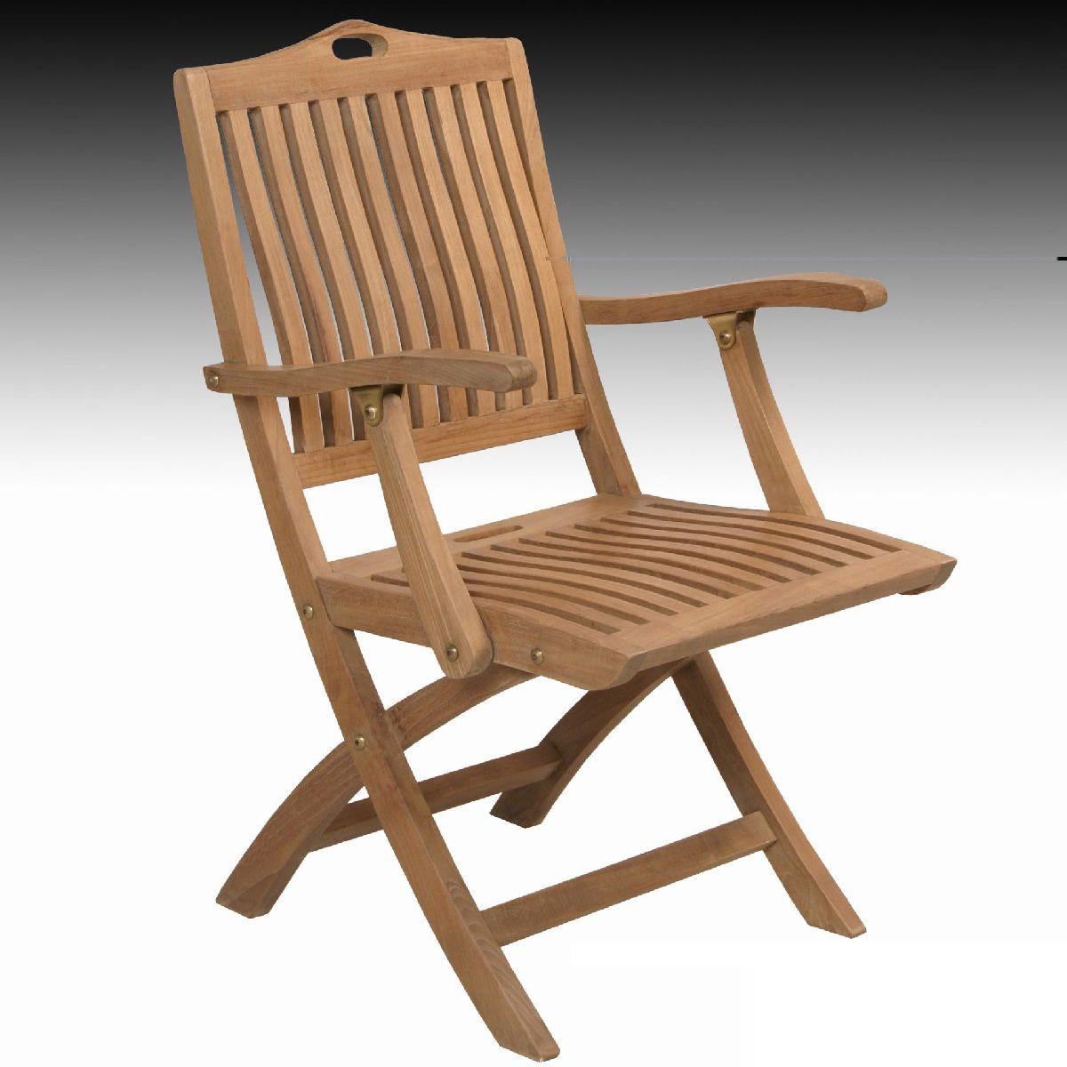 Outdoor Teak Garden Furniture Bratislava Folding Armchair