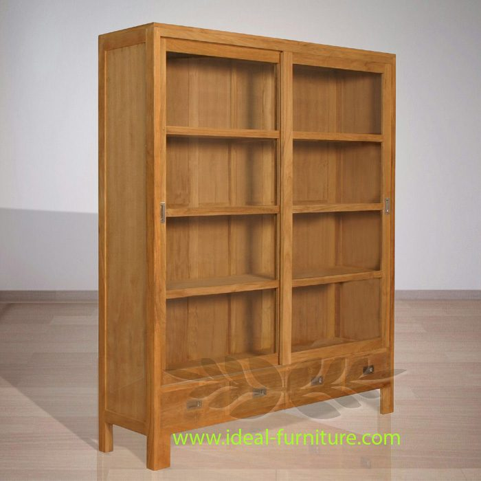 Indonesian Indoor Teak Furniture: Fred Display Cabinet