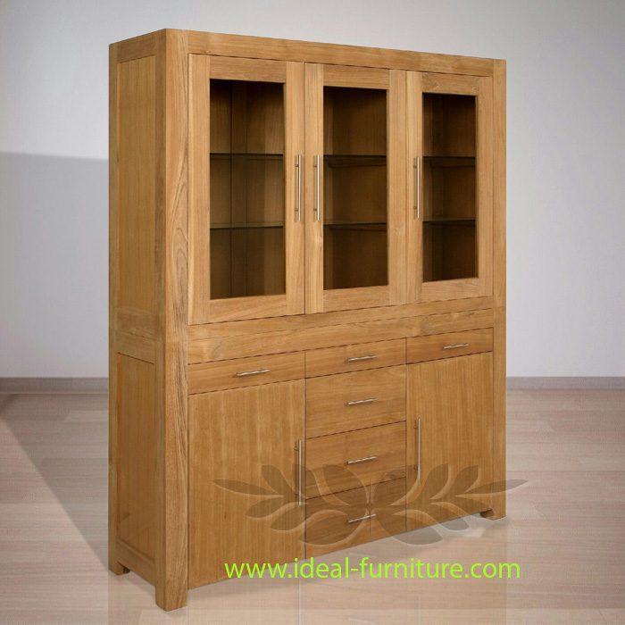 Indonesian Indoor Teak Furniture Gala Teak Cabinet 6 D