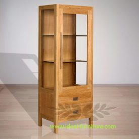 Indonesian Indoor Teak Furniture: George Display Cabinet