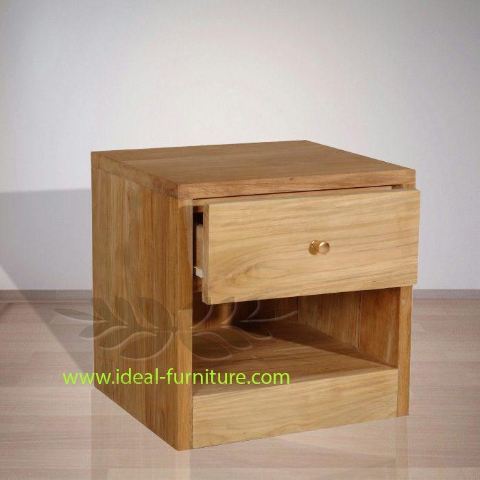 Indonesian Indoor Teak Furniture Jan Teak Bedside 9IFBS-009)
