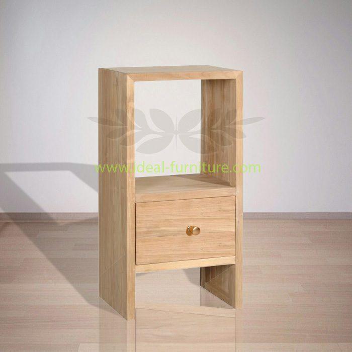 Indonesian Indoor Klaus Teak Bedside Furniture (IFBS-008)