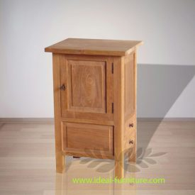 Indonesian Indoor Teak Furniture Lawrence Teak Bedside 1 D (IFBS-010)