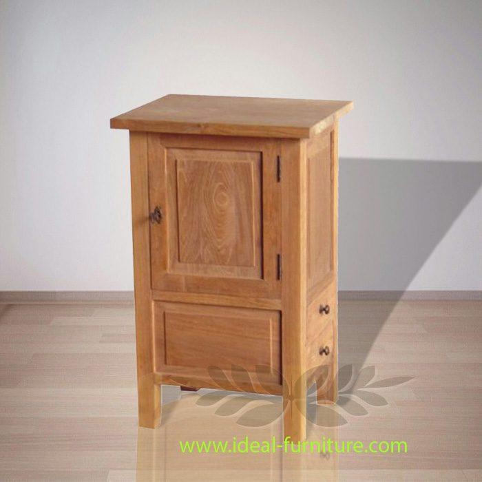 Indonesian Indoor Teak Furniture Lawrence Teak Bedside 1 D (IFBS-010)