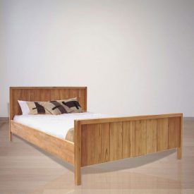 Indonesian Indoor Teak Bed Furniture: Margaux Deux Bed