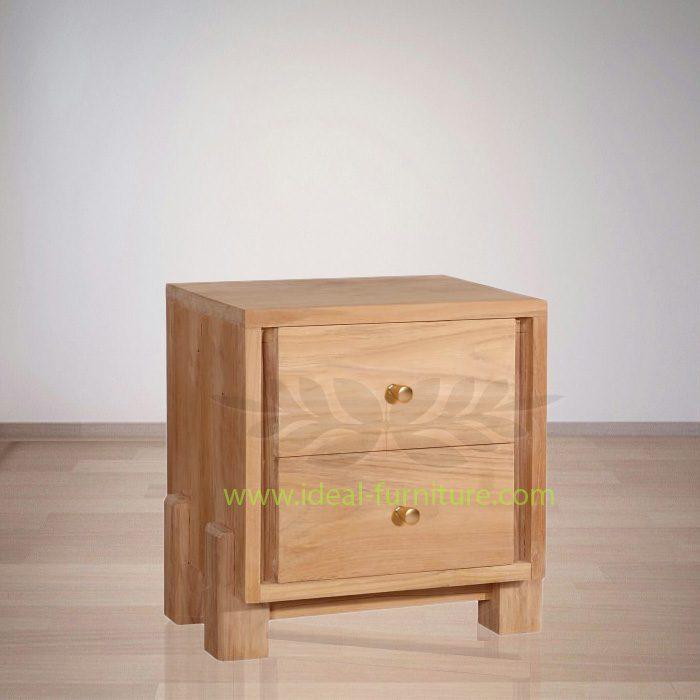 Indonesian Indoor Teak Marrie Bedside Furniture (IFBS-005)