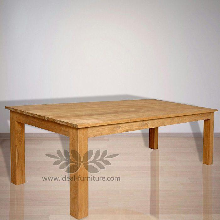 Indonesia Indoor Teak Furniture: Mika Dining Table (IFDT006)