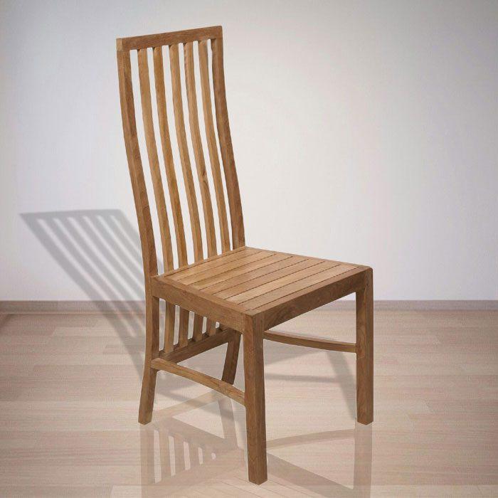 Indonesian Indoor Furniture Ondule Teak Dining Chair