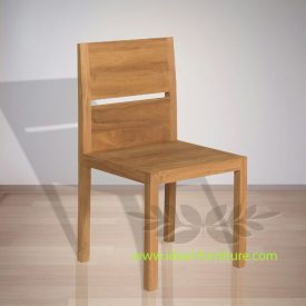 Indonesian Indoor Furniture Protecteur Blocked Back Dining Chair (IFDC-007)