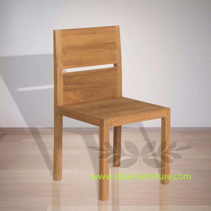 Protecteur Blocked Back Dining Chair Indonesian Teak Furniture At