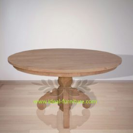 Indonesia Indoor Teak Furniture Round Dining Table 150