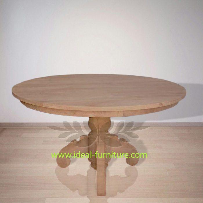 Indonesia Indoor Teak Furniture Round Dining Table 150