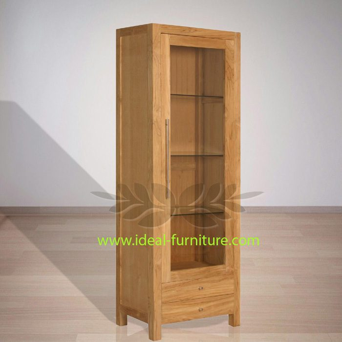 Indonesian Indoor Teak Furniture Steve Display Cabinet