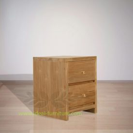 Indonesian Indoor Furniture Walter Teak Bedside (IFBS-012)