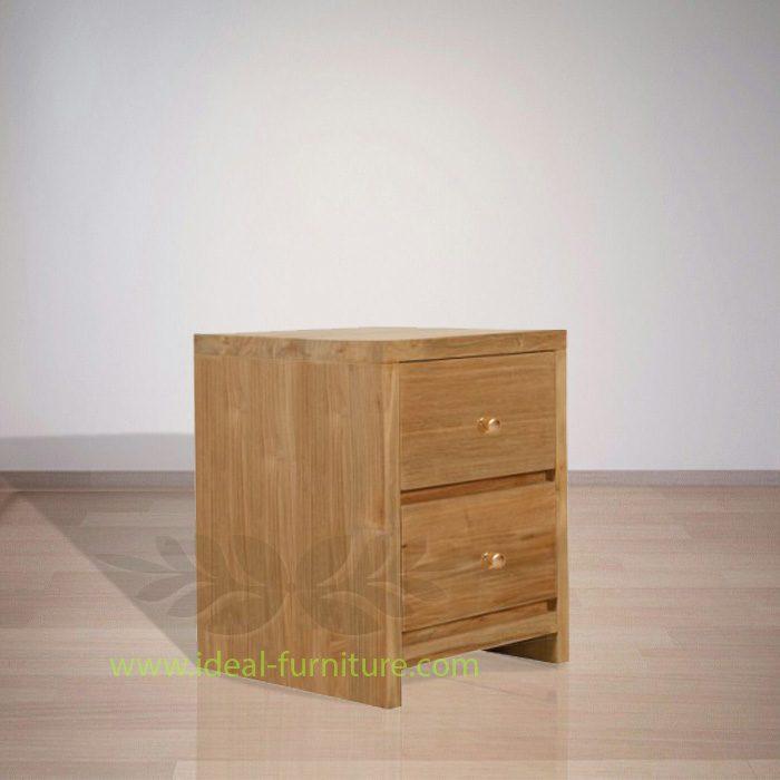 Indonesian Indoor Furniture Walter Teak Bedside (IFBS-012)