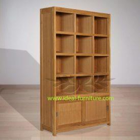Indonesian Indoor Teak Furniture: Wayne Bookshelf