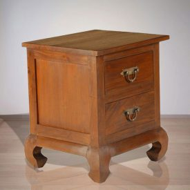 Indonesian Indoor Teak Furniture Opium Bedside (IFBS-002)
