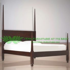 Indonesia Indoor Teak Furniture Afro Poster Bed (IFBD-009)