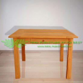 Indonesia Indoor Teak Furniture Annelis 120 Dining Table (IFDC-15)