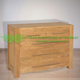 Indonesia Indoor Teak Furniture Carin Chest of Drawers (IFCD-006)