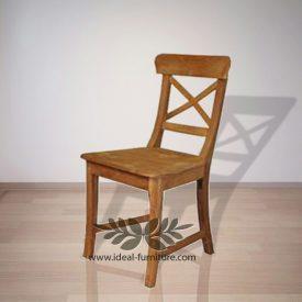 Indonesia Indoor Teak Cross Dining Chair Furniture (IfDC-024)