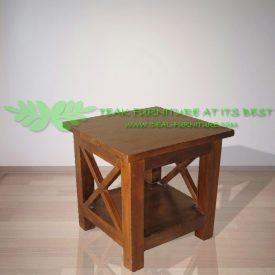 Indonesia Indoor Teak Furniture Cross Side Table (IFST-004)