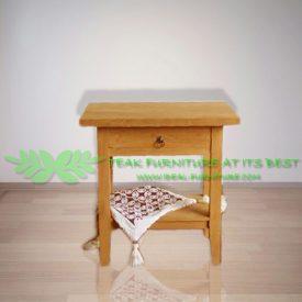 Indonesia Indoor Teak Furniture Emile Side Table Drawer Top (IFST-008)