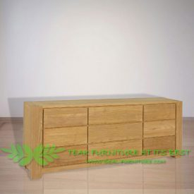 Indonesia Indoor Teak Furniture Helga Chest of Drawers