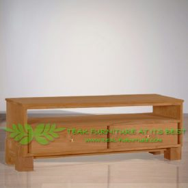 Indonesia Indoor Teak Furniture Renat 160 Teak TV Stand