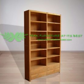 Indonesia Indoor Teak Furniture Chuck Bookcase (IFBC-007)