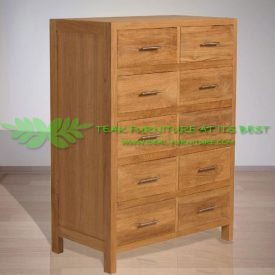 Indonesia Indoor Teak Furniture Kane Ches of Drawers (IFCD-008)