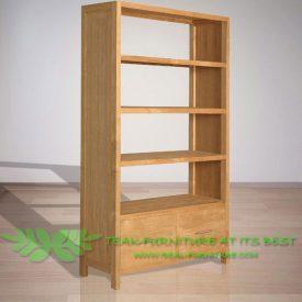 Indonesian Indoor Teak Furniture Rudy Bookcase (IFBC-004)