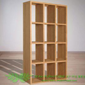 Indonesian Indoor Teak Furniture Travis Bookcase (IFBC-012)