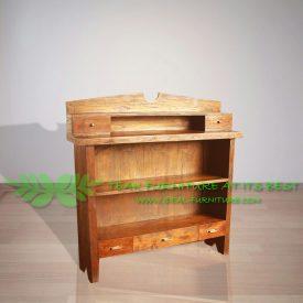 Indonesian Indoor Teak Furniture Vintage Bookcase (IFBC-011)