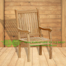 Indonesian Outdoor/Garden Teak Furniture Gema Armchair Gema Armchair Highback (OFCC-005)