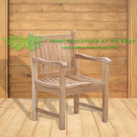 Indonesian Outdoor/Garden Teak Furniture Helma Armchair (OFCC-002)