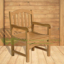 Indonesian Outdoor/Garden Teak Furniture Enrica Armchair (OFCC-016) by CV Ideal Furniture, Indonesia, Jepara