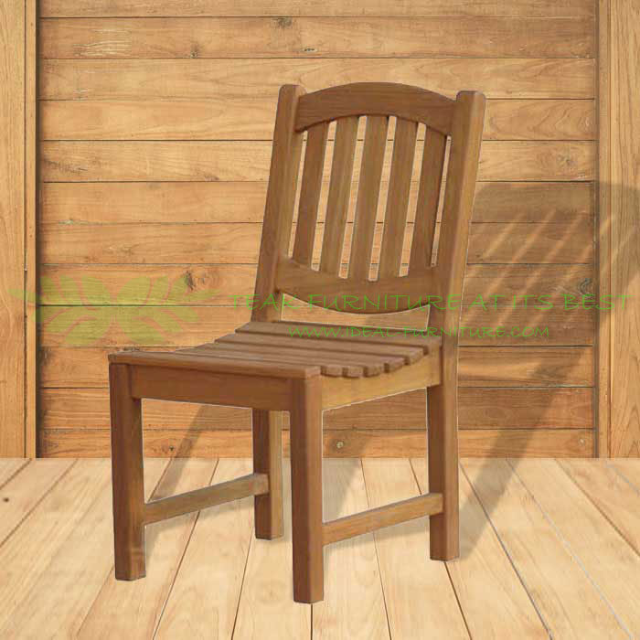 Indonesian Outdoor/Garden Teak Furniture Enrica Chair (OFCC-015) by CV Ideal Furniture, Indonesia, Jepara