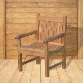 Indonesian Outdoor/Garden Teak Furniture Xena Armchair (OFCC-017) by CV Ideal Furniture, Indonesia, Jepara